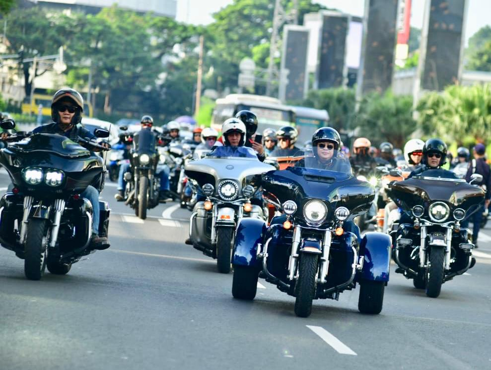 Bamsoet Hadiri Safety and Skill Precision Riding Clinic Harley Owners Group